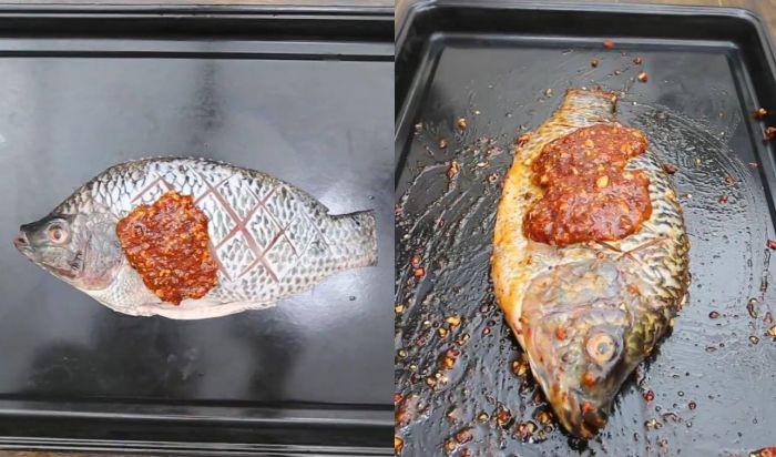 cá nướng muối ớt với than không khói