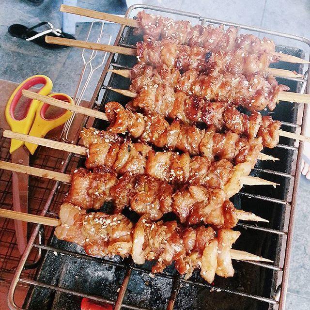 cách ướp thịt xiên nướng ngon