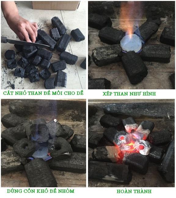 cách nhóm than sạch không khói