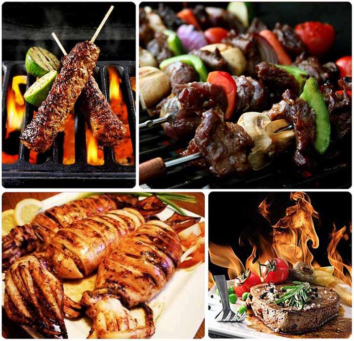 nướng thịt bằng than không khói