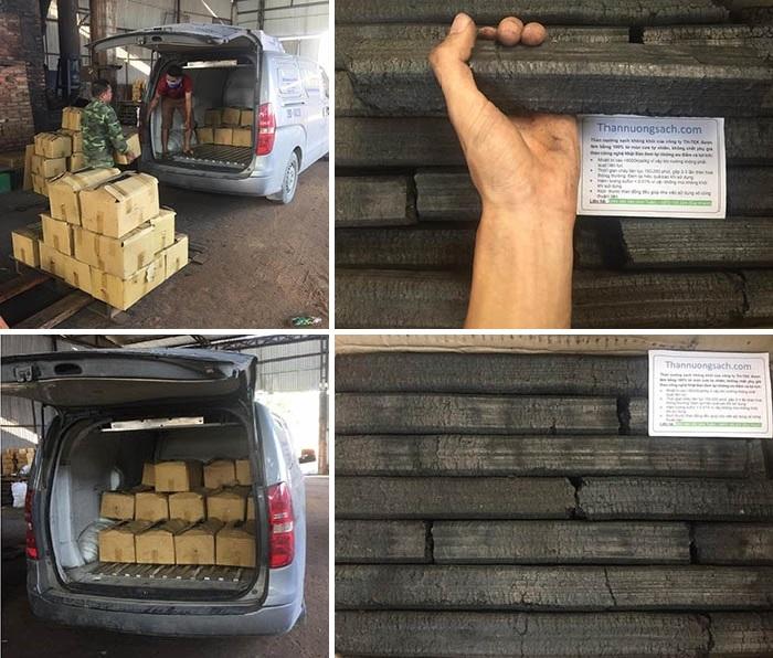 vận chuyển than nướng sạch không khói đến tay khách hàng