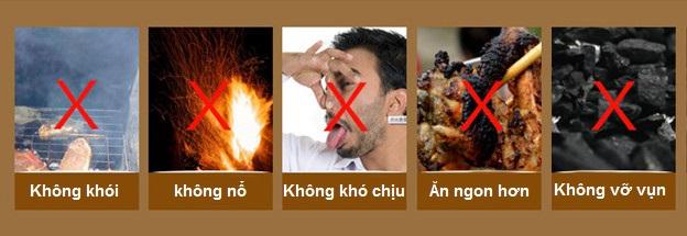 An toàn hơn với than nướng sạch không khói